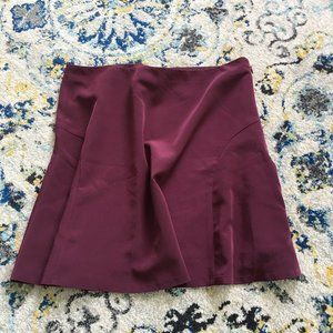 Maroon Skirt from The Limited